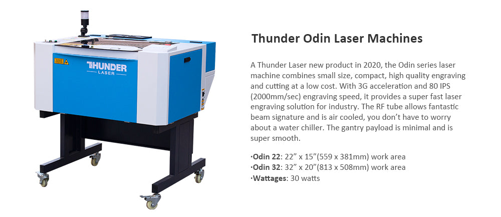Thunder CO2 Cutting Machine 30W with Air Cooled Working Area 599*381mm