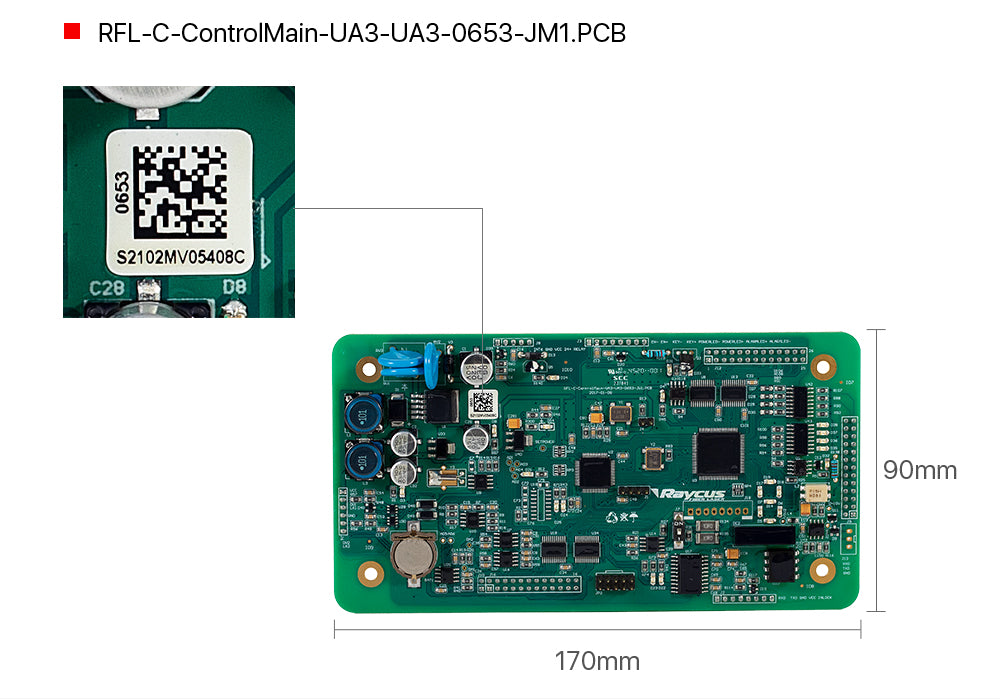 Cloudray Single Module Control Board Raycus 0656 For 1KW-3KW Raycus Laser Source