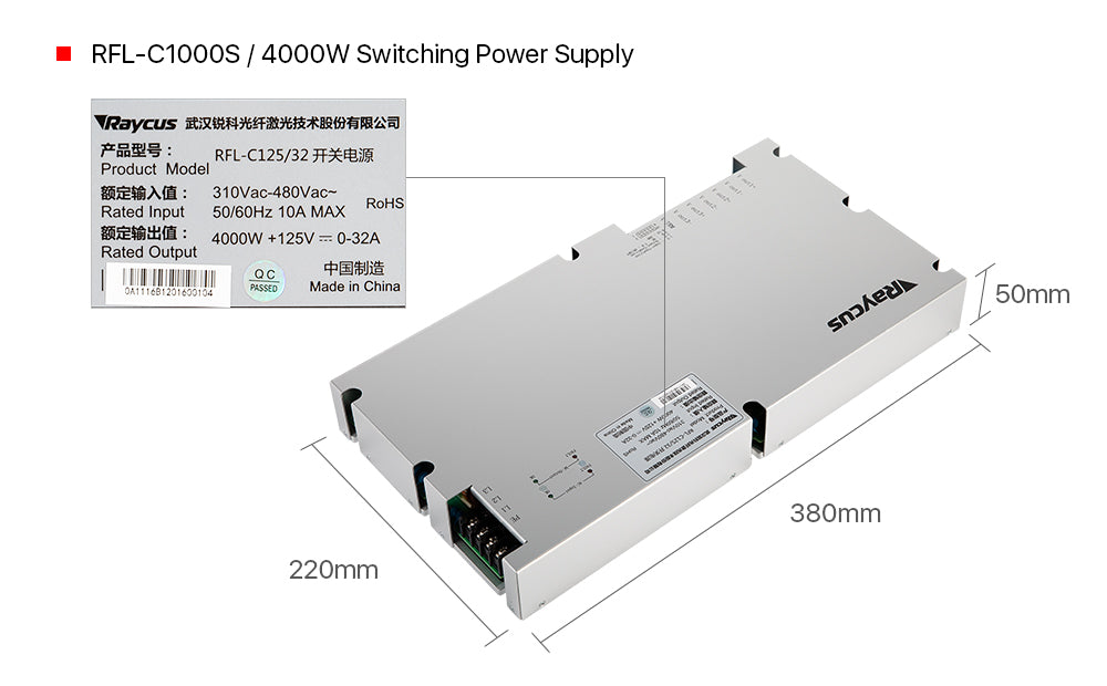 Cloudray Raycus Switching Power Supply
