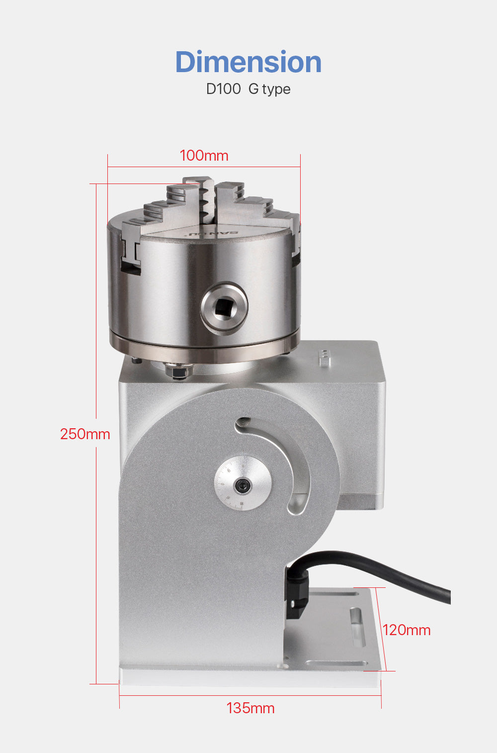 Rotary Attachment Diameter10mm Neam 34 Motor and Driver for Cuboid Objects Circular Marking