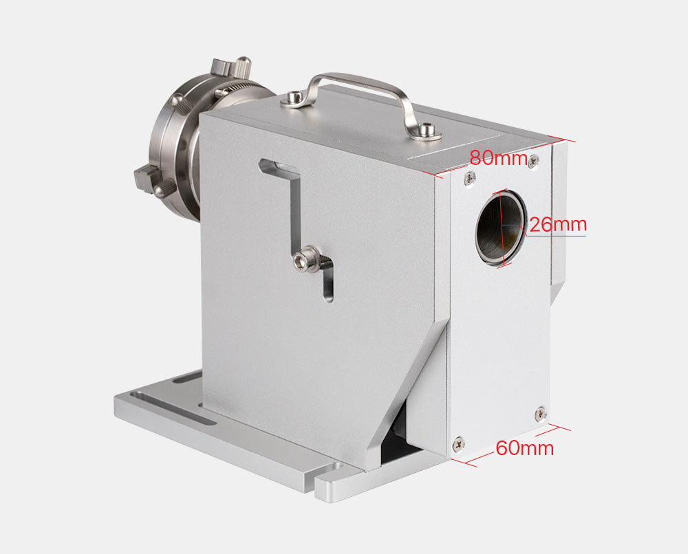 Rotary Attachment Diameter 69mm with Nema23 Motor DM542S Driver for Cuboid Objects Circular Fiber Marking Machine