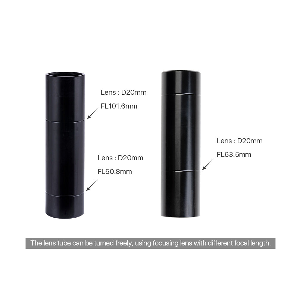 E Series CO2 Lens Tube O.D. 25mm