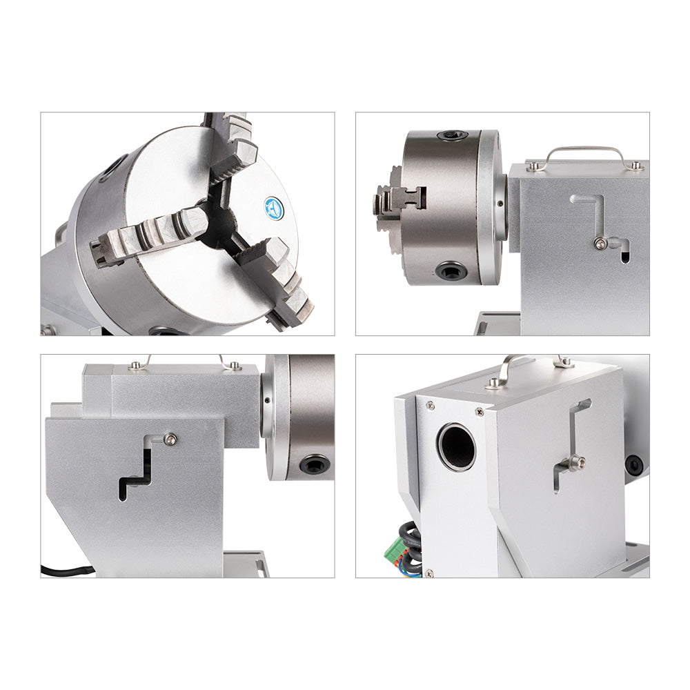 Cloudray Rotary Attachment Diameter 125mm with Nema34 Motor DM860S Driver for Fiber Marking Machine