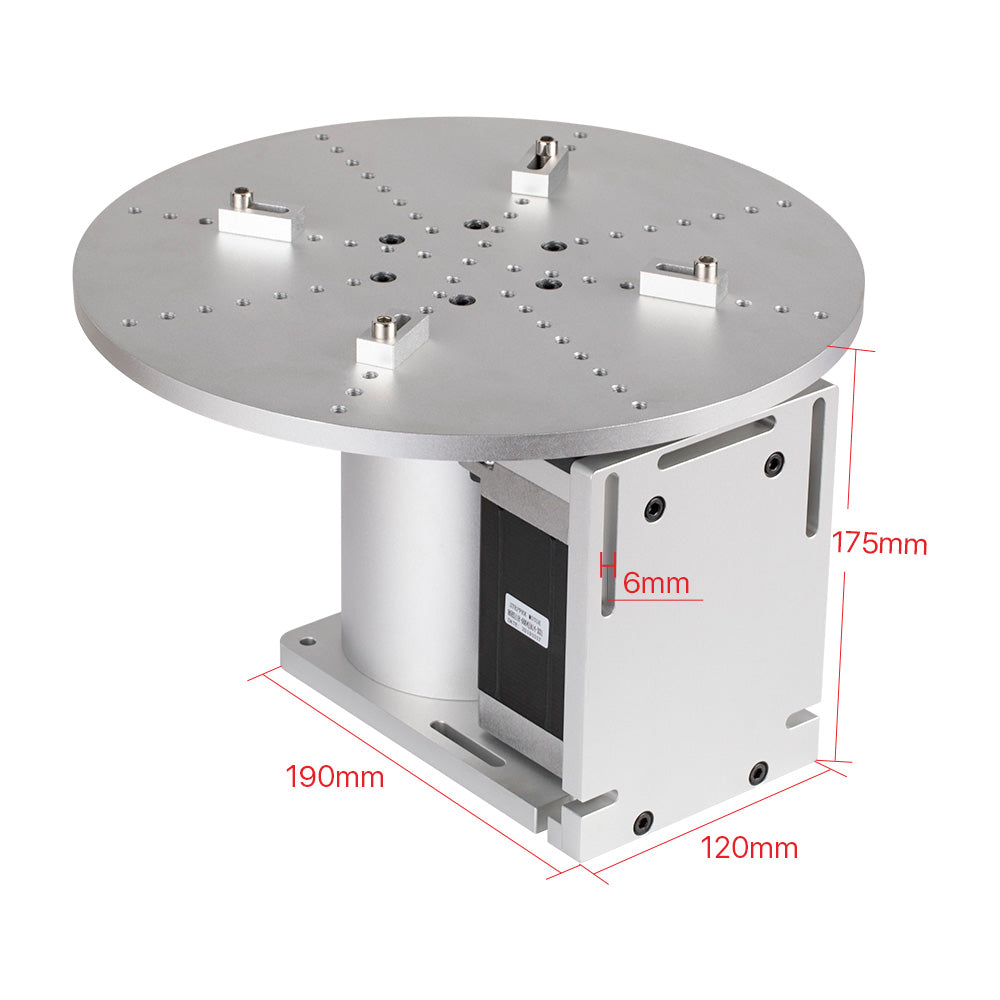 Cloudray Rotary Worktable 20 Slots Neam 34 Motor and Driver for Pen Lipstic and other Cylinder Marking