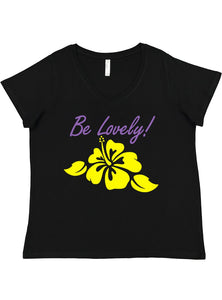 Be Lovely! Jen's T-Shirt Ladies V-Neck Curvy Tee