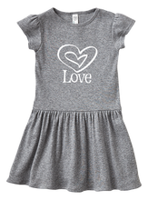 Double Heart Love Infant Baby Dress