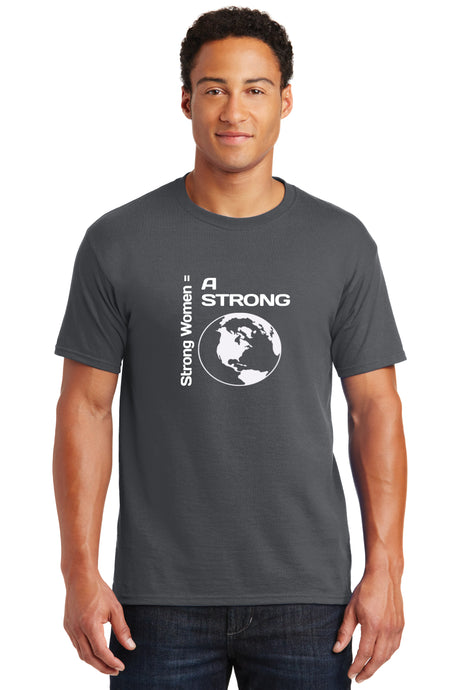 Strong Women = Strong World Mens Blended Tee