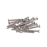 Suleve M2SP1 100Pcs M2 304 Stainless Steel Cross Flat Head Self Tapping Screw Wood Screws Speaker Screws Optional Length