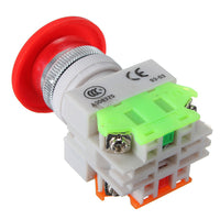5pcs N/O N/C Emergency Stop Switch Push Button Mushroom 4 Screw Terminals