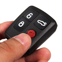 4 Buttons Black Remote Key Shell Case for Ford Territory
