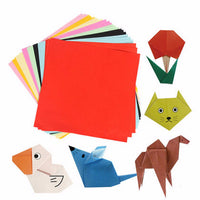 DIY Square Double Sided Origami Folding Lucky Wish Paper Crane Craft Colorful Sheets Paper Art