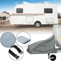Universal Caravan Hitch Cover Grey Trailer Tow Ball Coupling Lock Cover