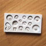 New Button Shape Silicone Mold Jelly Soap Chocolate Mold DIY Baking Cake Decorating Tools