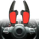 Car Gear Shift Steel Ring Wheel Extension Pedal Carbon Fiber for VW Golf MK7 GTI GTD