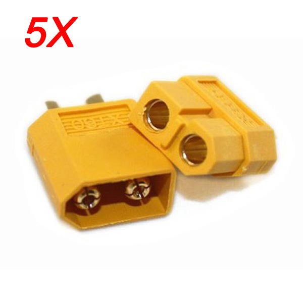 5Pairs/10pcs XT60 Plug Male Female Bullet Connectors For RC Drone Multirotor FPV Racing Battery