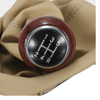 Speed Gear Wooden Shift Knob Gaitor Boot for 98-04 VW Passat B5 B5.5