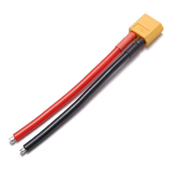 XT60 Male Plug 12AWG 10cm With Wire