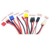 9 in 1 Multifunctional Charger 4.0mm Banana Adapter Connector Plug T Tamiya Futaba TRX' XT60 EC3 JST Wire