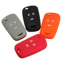 3 Button Silicone Key Case Holder Fob Protector Cover For Chevrolet