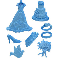 Bride Wedding Dress Silicone Fandant Mold Chocolate Polymer Clay Mould