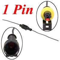 1/2/3/4/5/6 Pin Car Motorcycles Waterproof Electrical Connector Plug w/10cm Wire