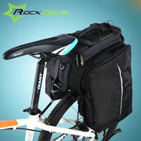 ROCKBROS Cycling Rack Bag Bicycle Bag Rear Trunk Bag Carry Bag Mountain Bike Backpack