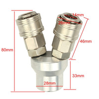 1Pcs 2/3Way 12mm CR-V Air Pump High Pressure Self Locking Quick Connector Pipe Adapter
