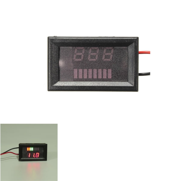 DC 12V36V48V Rectangle Digital Display Volt Meterr Meter For Motorcycle Car Boat