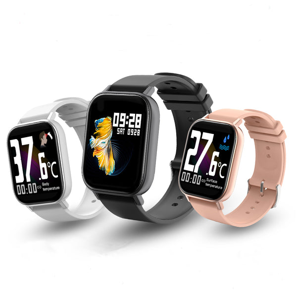 [SPO2 Monitor]Bakeey GTR-H Real-time Body Ambient Temperature Detection Immunity Heart Rate BP Monitor Music Camera Control Smart Watch