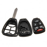 6-Button Remote Lgnition Key Shell Case Uncut Blade For Chrysler Dodge