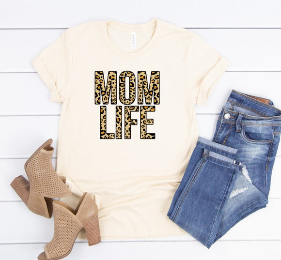 Mom Life Leopard Tee (Classic and Plus Size)