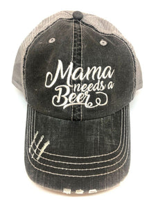 Mama Needs A Beer Trucker Hat