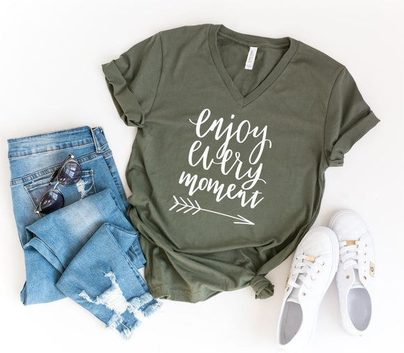 Enjoy Every Moment Tee Classic and Plus Size