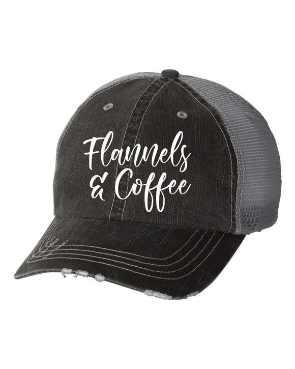 Flannels and Coffee Trucker Hat