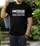American Noun Freedom Flying  Mens Tee