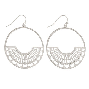 Modern Drop Earrings- Silver