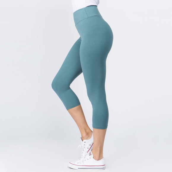 Capri Leggings- Slate Blue