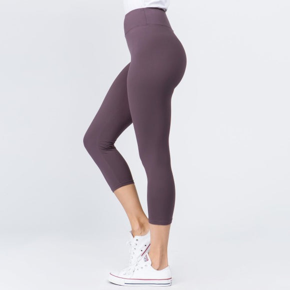 Capri Leggings- Violet