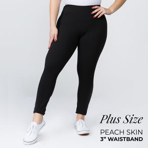 Black Leggings- Plus Size