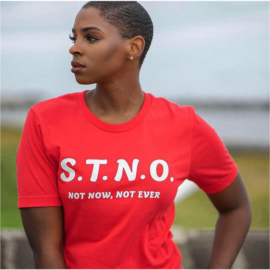 STNO Unisex Initial Tee-Red