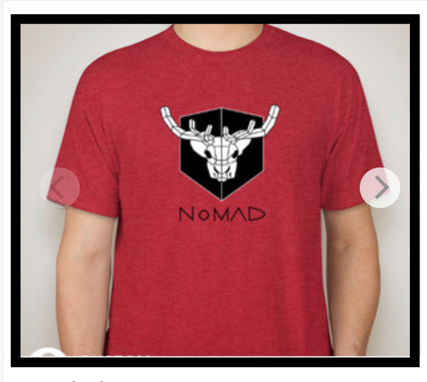Vintage Red Short-Sleeve NoMAD Carrie the Caribou T-shirt