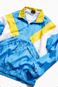 Champion Windbreaker Track Jacket - Yellow/Blue