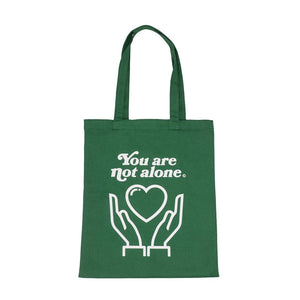 You Are Not Alone Essential Shopping Tote Bag - Forest Green