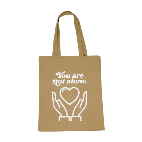 You Are Not Alone Essential Shopping Tote Bag - Khaki