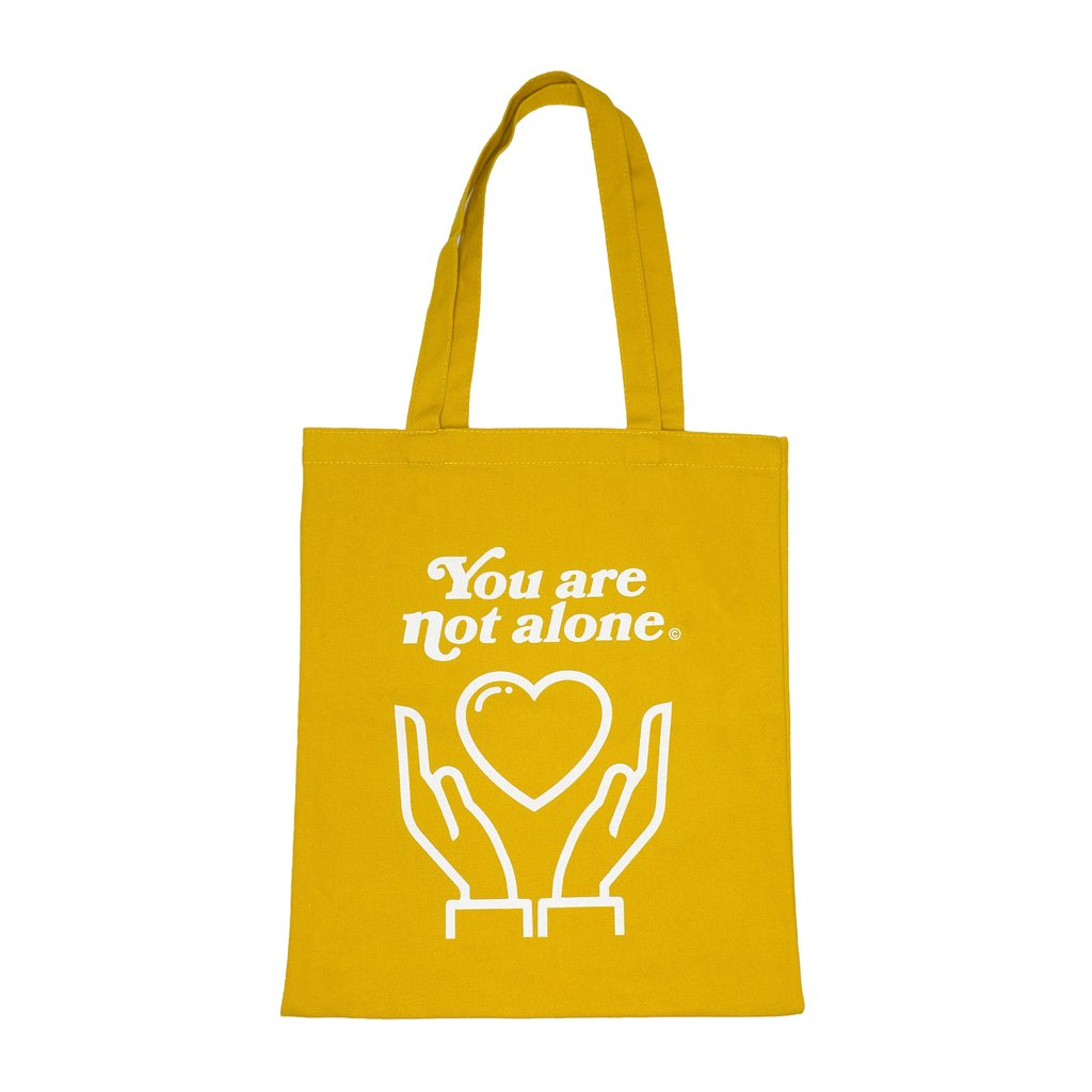 You Are Not Alone Essential Shopping Tote Bag - Mustard Yellow