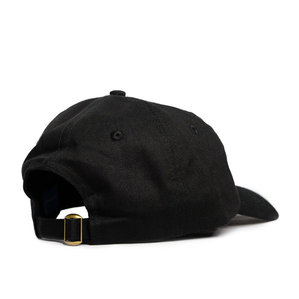 Extroverted Introvert Text Logo 6 Panel Cap - Black