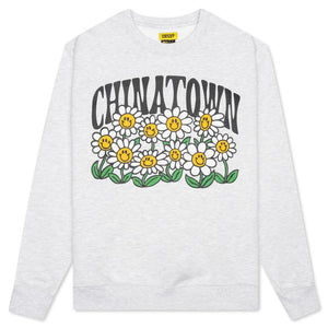 SMILEY FLOWER POWER CREWNECK