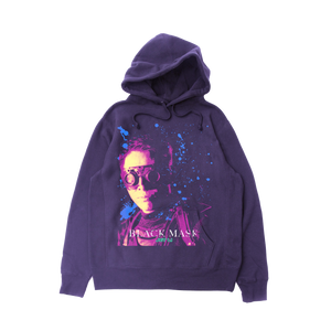 Black Mask Hoodie - Purple