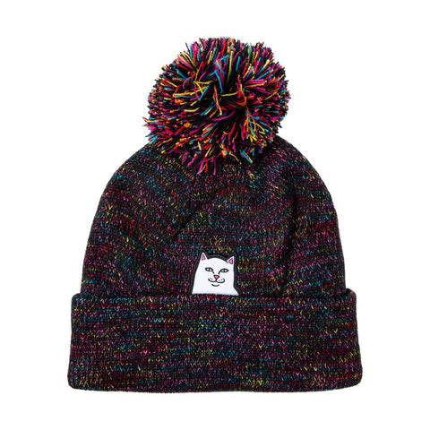 Lord Nermal Pom Beanie Black Multi