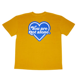 You Are Not Alone Heart Logo Oversized Tee - Mustard Yellow